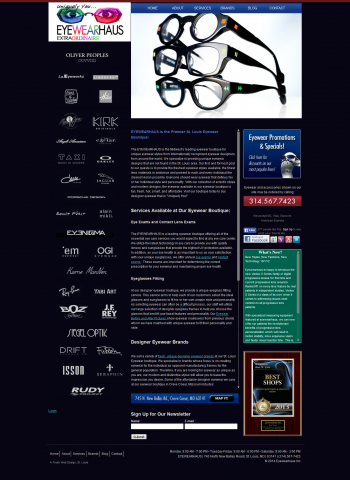 EyeWearHaus Website